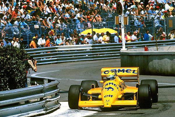 C87S-1174 1987 Monaco Grand Prix Lotus; A. Senna