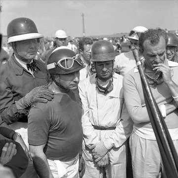 Mike Hawthorn, Juan Fangio, Peter Collins, Harry Schell