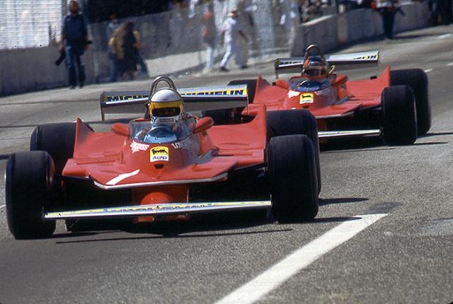 Ferrari, Jody Scheckter, Gilles Villeneuve, Long Beach Grand Prix