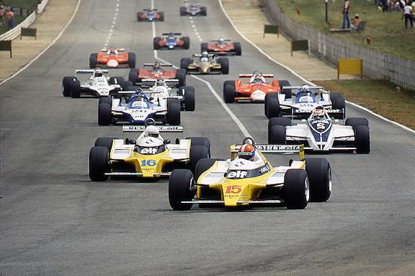 Renault, Brabham, Piquet, Jabouille, Arnoux, Kyalami