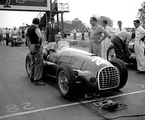 Ferrari, Silverstone, Ascari, Villoresi