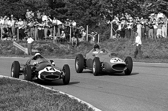 Stirling Moss,Dan Gurney, Monza, Ferrari, Cooper