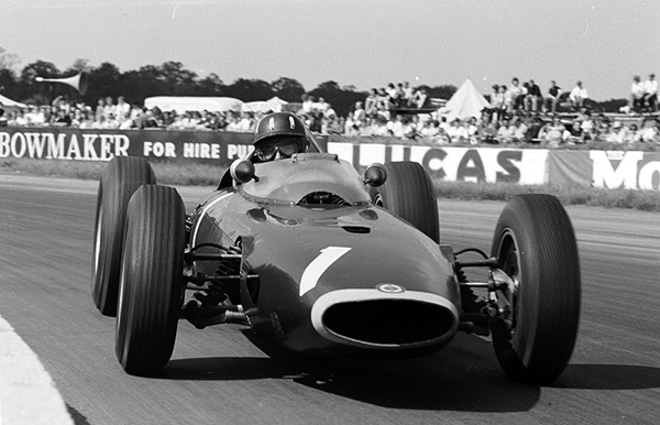 BRM, Graham Hill, klemcoll