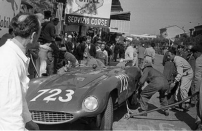 Ferrari, Castellotti, Mille Miglia, klemcoll
