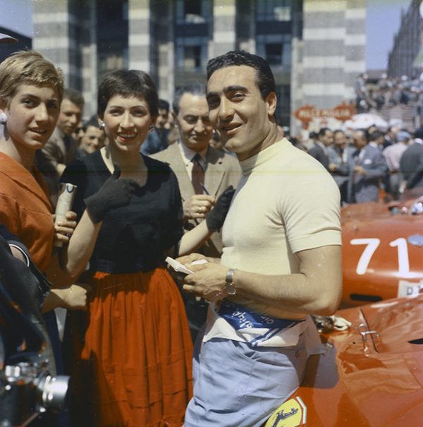 Castellotti, Ferrari, Mille Miglia, klemcoll