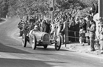Bugatti, Abecassis, Chimay, klemcoll