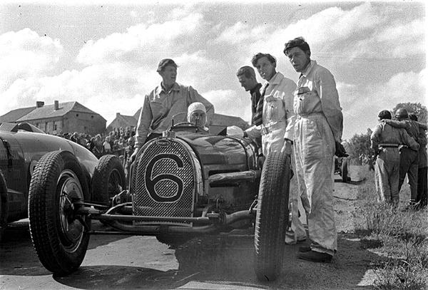Bugatti, klemcoll, Chimay, Abecassis
