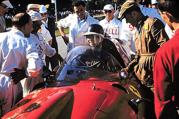 Mike Hawthortn, Ferrari, Monza 500, klemcoll