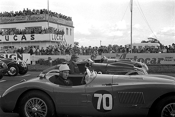 Stirling Moss, Jaguar, Goodwood, klemcoll