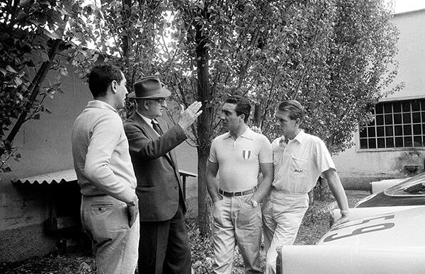 ferrari, mille miglia, ferrari, Peter Collins, Eugenio Castellotti, Luigi Musso, Maranello