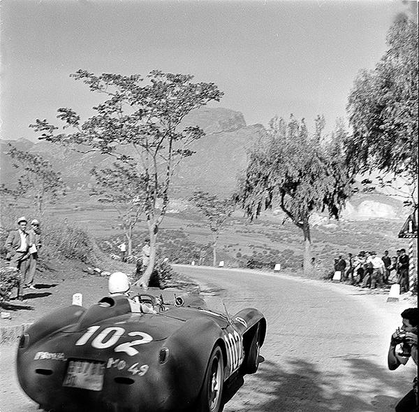 Ferrari, Targa Florio, klemcoll, von Trips, Phil Hill
