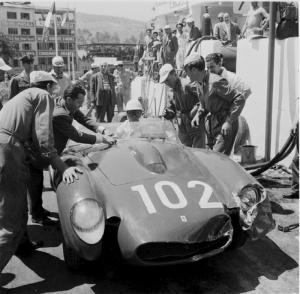 Ferrari, Targa Florio, klemcoll, von Trips, Phill Hill