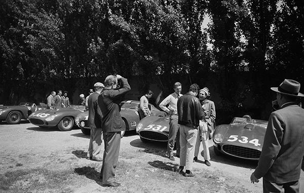Ferrari, klemcoll, Peter Collins, Wolfgang von Trips, Alfonso de Portago