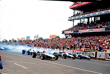 Le Mans, French GP, klemcoll