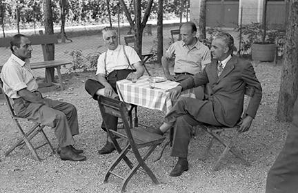 Felice boleto, Enzo Ferrari, Fredrici Giberti, Luigi Villoresi, klemcoll