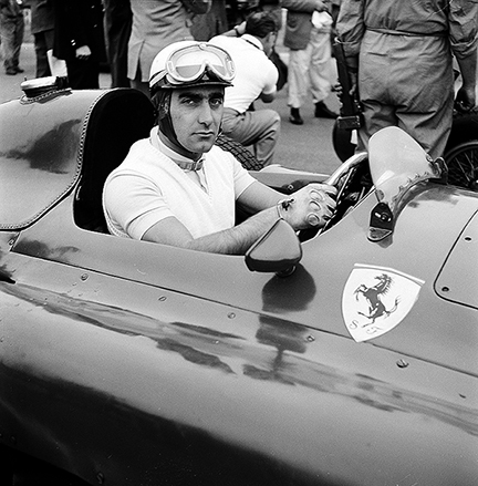 Castellotti, Ferrari-Lancia, Ferrari, klemcoll, Silverstone