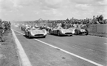 Mercedes, klemcoll, Reims, Fangio, Kling, Ascari