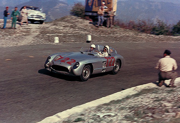 Stirling Moss, Denis Jenkinson, Mercedes-Benz, Mill Miglia, klemcoll