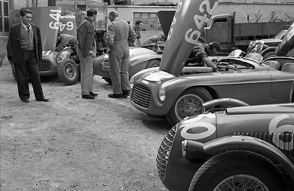 Ferrari, Brescia, Mille Miglia, klemcoll
