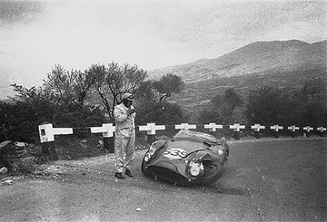 Mille Miglia, Aston Martin , Reg Parnell, klemcoll