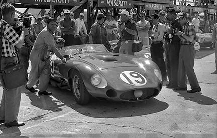 Maserati, Sebring, Juan Fangio, klemcoll