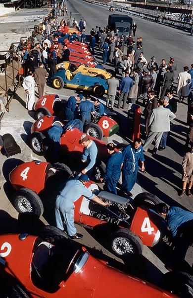 Alfa Romeo, Spanis GP, klemcoll, Ferrari. Talbot