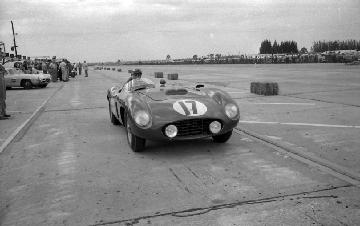 Ferrari, Sebring, Fangio, klemcoll