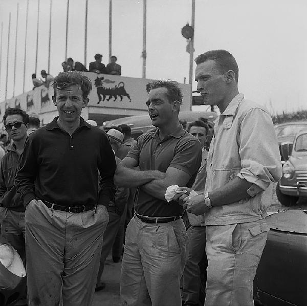Dan Gurney, Phil Hill, Tony Brooks, Monza, klemcoll