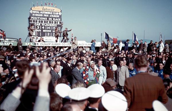 Reg Parnell, Alfa Romeo, Silverstone, klemcoll