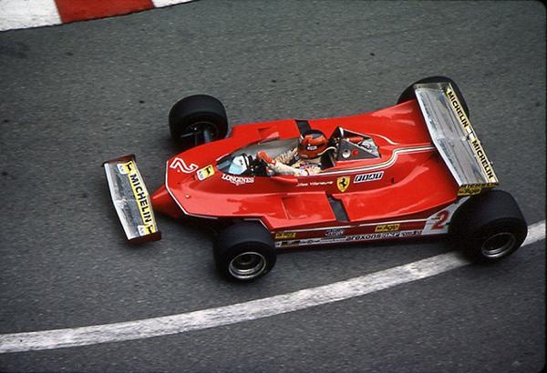 Ferrari, Gilles Villeneuve, klemcoll, Monaco