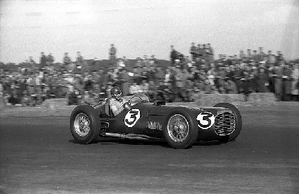 BRM, Fangio, Silverstone, klemcoll