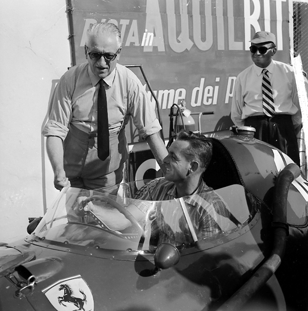 Ferrari, Phil Hill, Monza, klemcoll