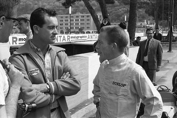 Bob Bondurant, Richie Ginther, Monaco, klemcoll