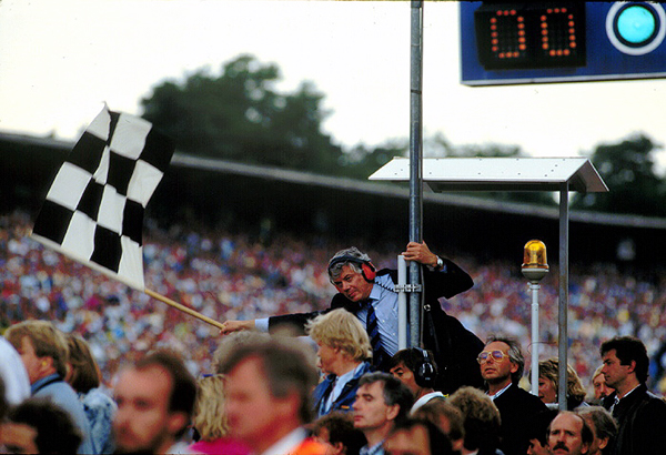 Hockenheimring, klemcoll, checkered flag