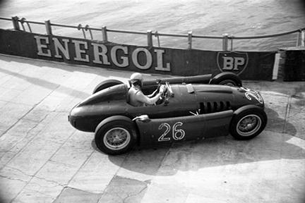 Alberto Ascari, Lancia, Monaco Grand Prix, klemcoll
