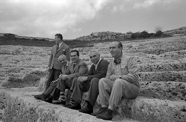 Luigi Villoresi, Alberto Adscari, Piero Taruffi, Nino Farina, Syracusa, Ferrari, kklemcoll