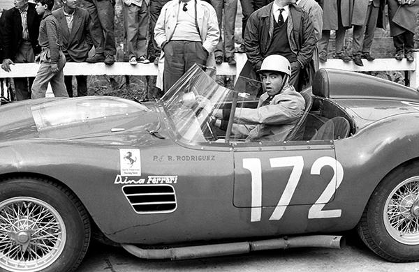 Ferrari, Dino, Targa Florio, klemcoll, Ricardo Rodriguez